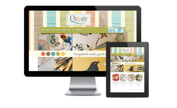 Quincy Lampshades WordPress e-commerce website