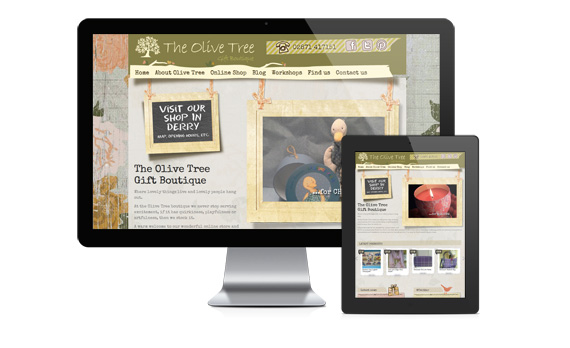 Olive Tree Boutique - A Sorbet WordPress website