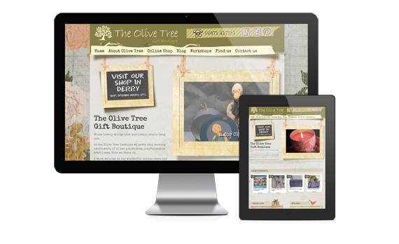 Olive Tree Boutique - A Sorbet WordPress website